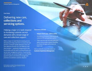 Case Study - Delivering New Care, Collections and Servicing Options