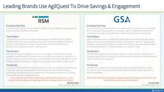 RSM and GSA Case Studies