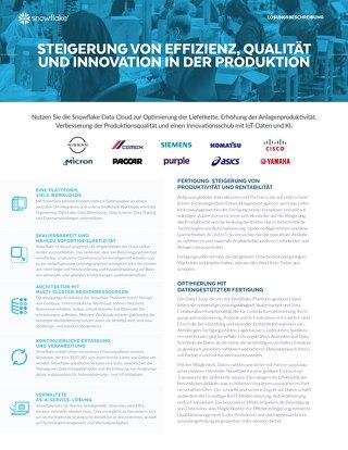 Steigerung von Effizienz, Qualität und Innovation in der Produktion
