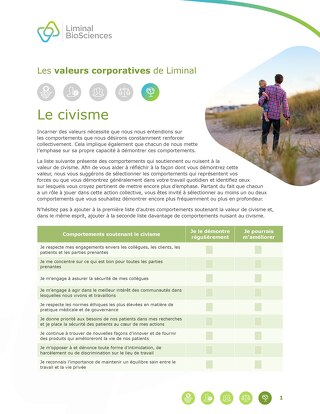 Liminal Good Citizenship Checklist (FR)