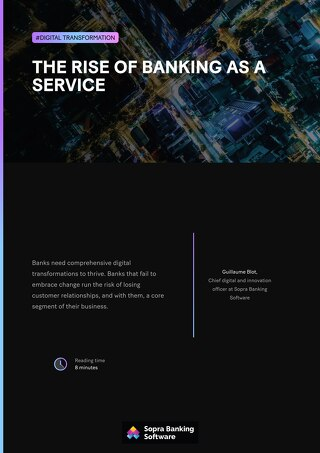 Banks that fail to embrace change run the risk of losing customer relationships, and with them, a core segment of their business.