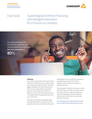 Supercharging Enrollment Processing with Intelligent Automation for a Fortune 100 Company