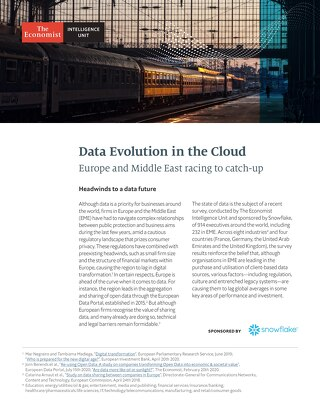 Data's Evolution in the Cloud: Europe and Middle East Racing to Catch Up