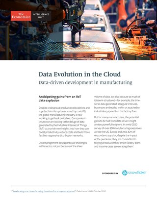 Data's Evolution in the Cloud: Data-driven Development in Manufacturing
