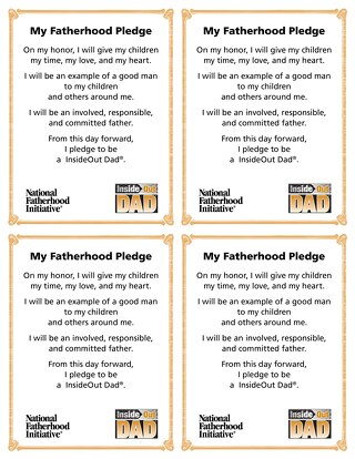 InsideOut Dad® Pledge Cards (English and Spanish)