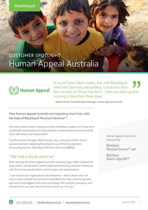 Customer Spotlight: Human Appeal Australia