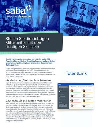 TalentLink datasheet DE