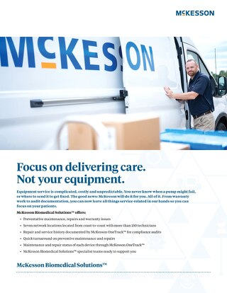 McKesson Biomedical Solutions™: Services