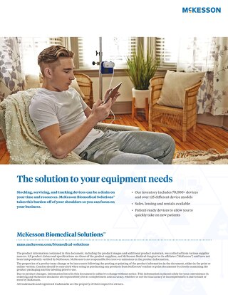 McKesson Biomedical Solutions™: The solution to your equipment needs