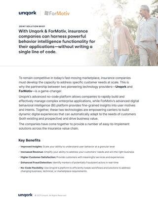 Tech Partnership Solution Brief: ForMotiv + Unqork