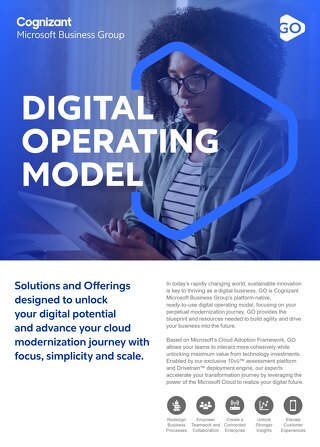 Cognizant MBG GO Digital Operating Model