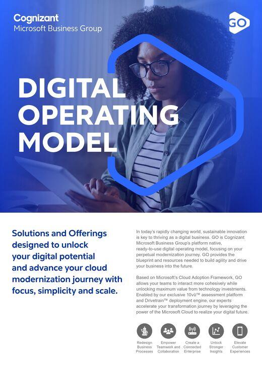 Cognizant MBG GO Digital Operating Model