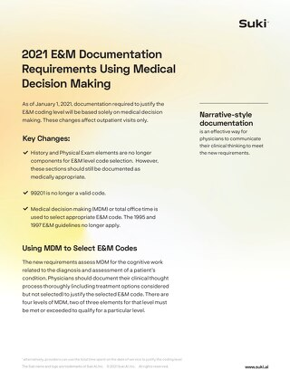 2021 E&M Documentation Requirements Overview