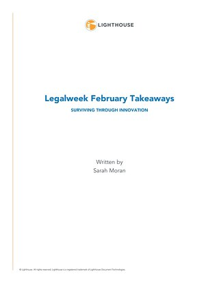Legalweek February Takeaways