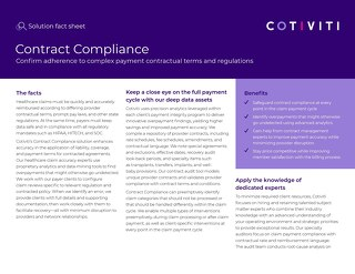 Contract Compliance solution