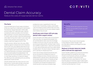 Dental Claim Accuracy solution