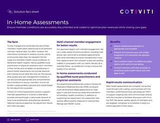 In-Home Assessments solution