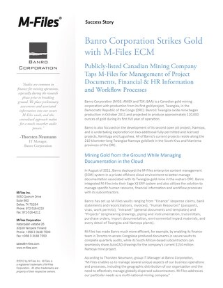 Case Study: Banro Corporation