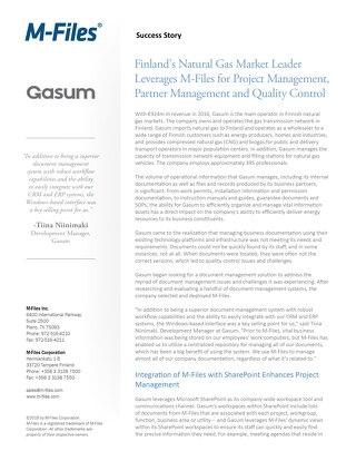 Case Study: Gasum