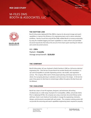 Case Study: Booth & Associates