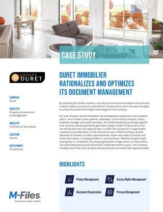 Case Study: Duret Immobilier