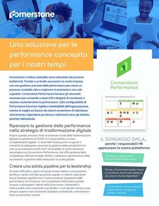 Performance: Una soluzione per le performance concepita per i nostri tempi