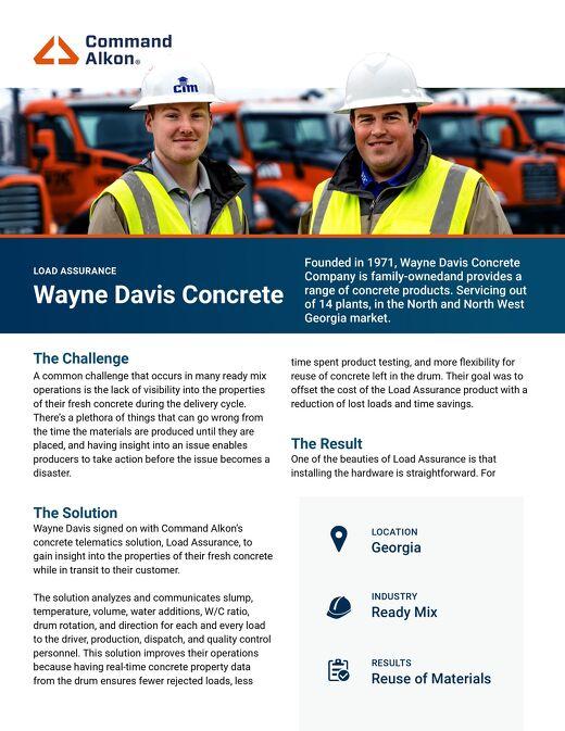 Wayne Davis Concrete COMMANDassurance Case Study
