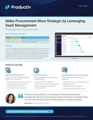 Productiv for Procurement