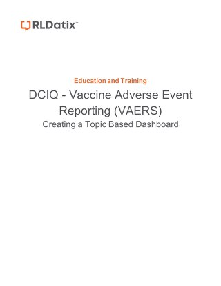 DCIQ VAERS Reporting Template