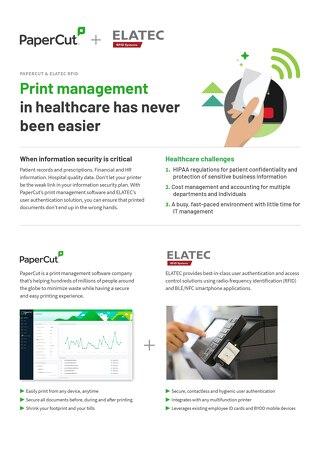 Papercut Healthcare Solutions Elatec