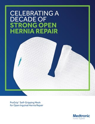 Brochure: ProGrip™ Self-Gripping Mesh for Open Inguinal Hernia Repair