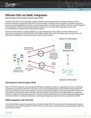 Efficient SSO via SAML Integration