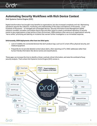 Automating Security Workflows with Rich Device Context