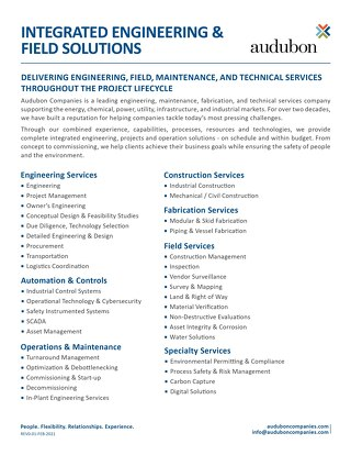 Integrated Engineering & Field Solutions