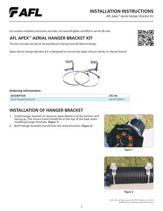 Apex™ Aerial Hanger Bracket Instructions