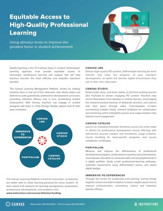 Equitable Access to Professional Learning