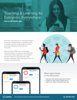 Canvas K12 Mobile Apps 2 Page Guide