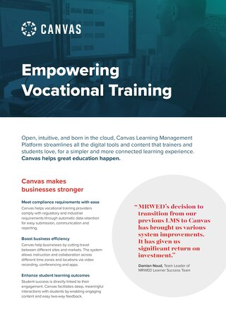 Empowering Vocational Training - 2 Page Guide