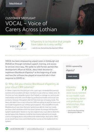 VOCAL | eTapestry