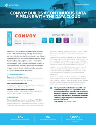 Convoy Builds a Continuous Data Pipeline with the Data Cloud