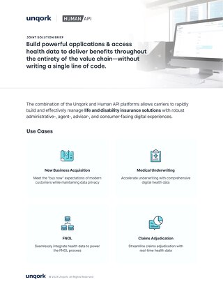 Tech Partnership Solution Brief: Human API + Unqork
