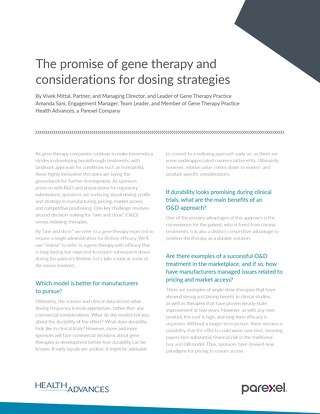 Dosing strategies for gene therapies