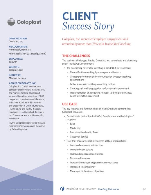 Coloplast Case Study