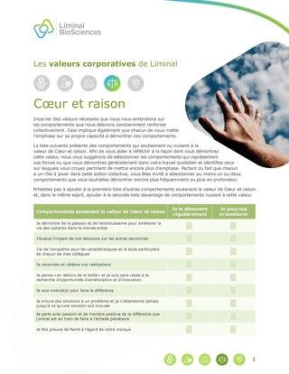 Liminal Hearts & Minds Checklist (FR)