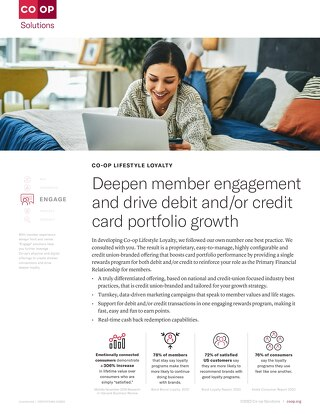CO-OP Lifestyle Loyalty Slipsheet
