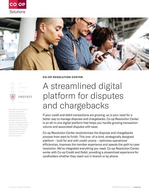 CO-OP Resolution Center Slipsheet
