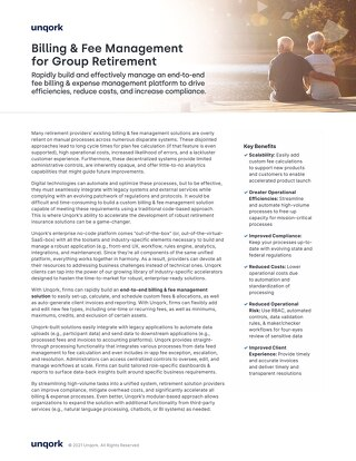 Solution Brief: Billing & Fee Management for Group Retirement