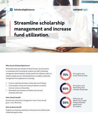 ScholarshipUniverse Data Sheet