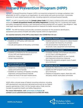 Hazard Prevention Program (HPP)
