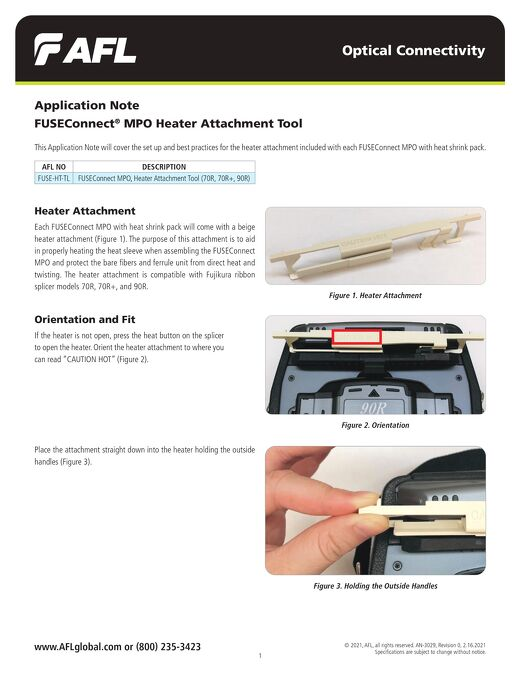 Application Note: FUSEConnect® MPO Heater Attachment